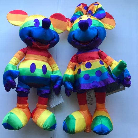 2020 Disney Rainbow Mickey & Minnie Mouse Plush